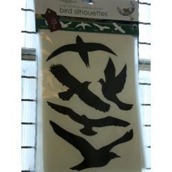 Fönstersiluetter fåglar
